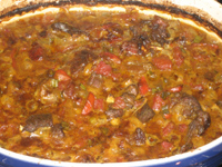 Cooked goat curry
