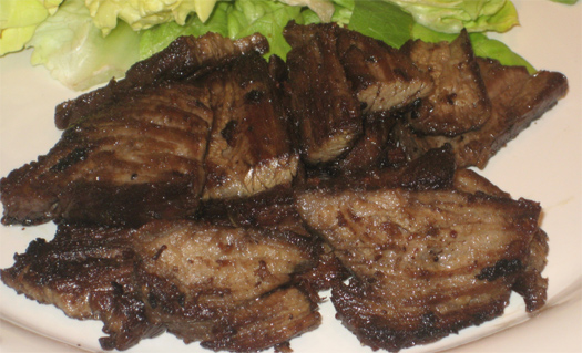 Garlic lime skirt steak